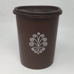 Vintage Tupperware Canisters #811 (Brown) 5 cup